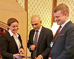 Hannah David founding Director of Planning Futures with Sajid Javid